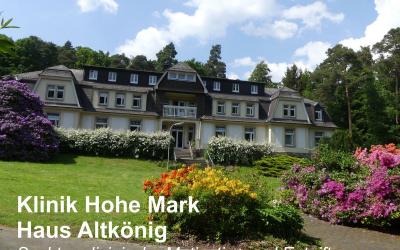 DGD-Klinik Hohe Mark: Erweiterung der suchtmedizinischen Arbeit