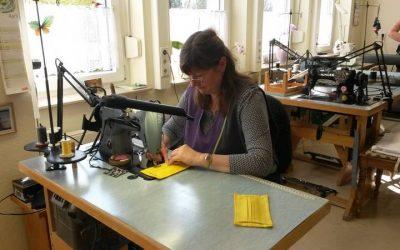 Diakonissen-Mutterhaus Hebron näht Schutzmasken für Klinik Hohe Mark