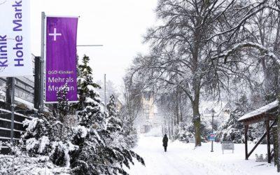 Klinik Hohe Mark: Wintergrüße aus dem verschneiten Taunus!