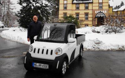 Fuhrpark Klinik Hohe Mark mit erstem E-Auto